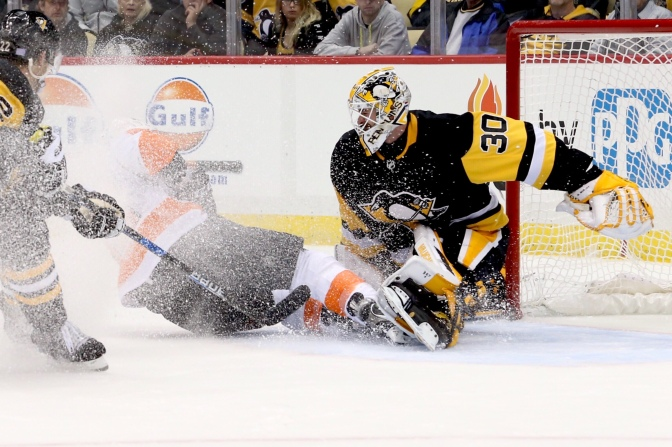 Penguins In Unchartered Goalie Waters